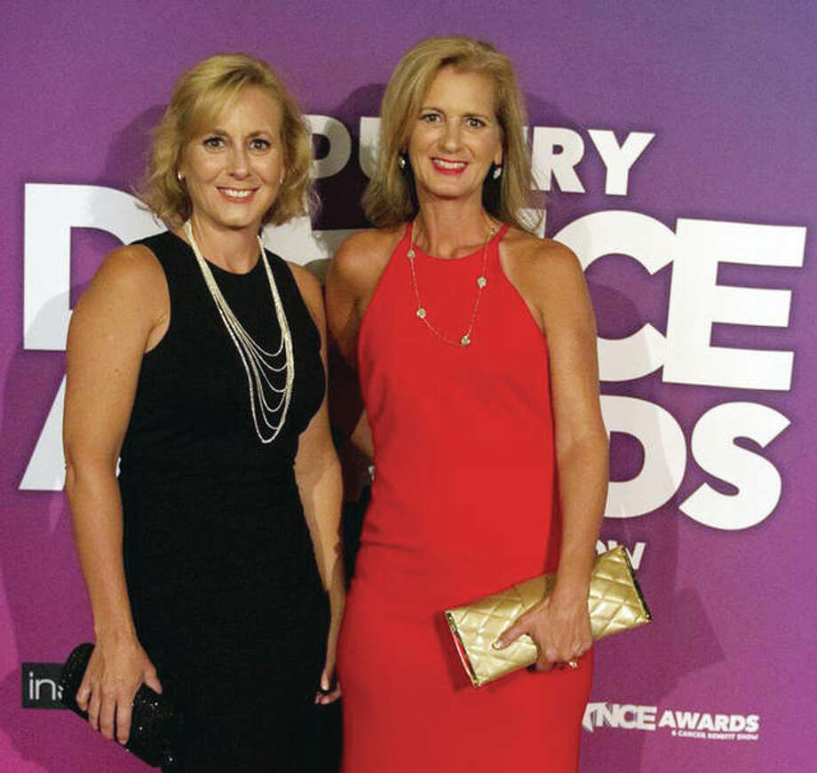 Sara Roegge and Jennifer Claussen attend the IDA Awards in August in California. Photo: Photo Provided