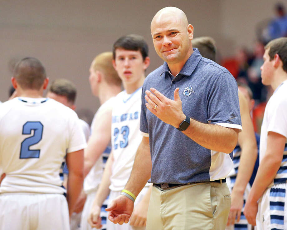 Jersey coach Stote Reeder's team dropped a 70-61 decision to rival Highland in Wednesday's Class 3A regional Tourney semifinal at Triad. Photo: James B. Ritter File Photo | For The Telegraph
