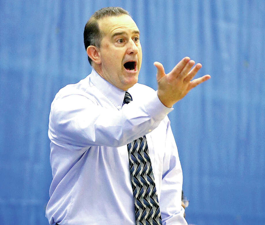 LCCC coach Doug Stotler's team, dropped a 77-67 decision to St. Louis Community College Thursday night in a game played at Forest Park Community College. Photo: Bily Hurst File Photo | For The Telegraph