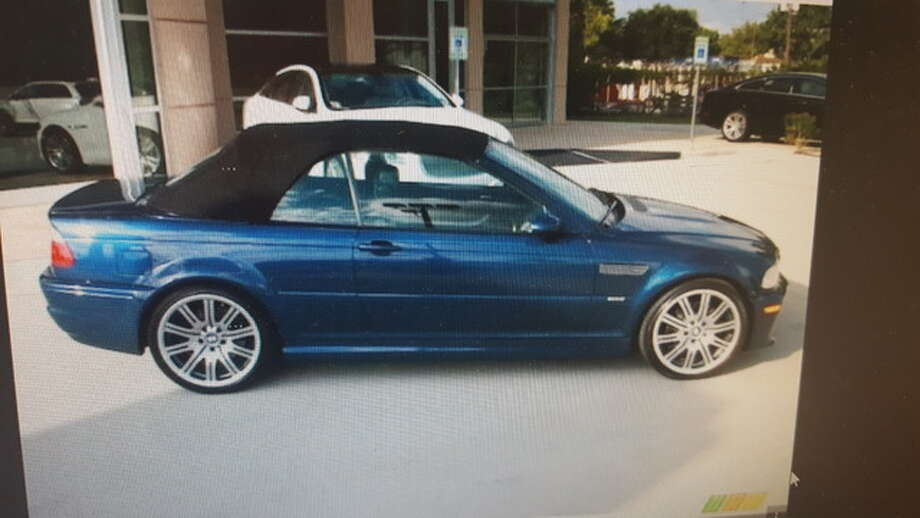 A photo of the blue, convertible 128i BMW with a black top that was allegedly stolen from a Collinsville dealership and used as a getaway vehicle for a residential burglary reported Tuesday morning in Mount Olive.