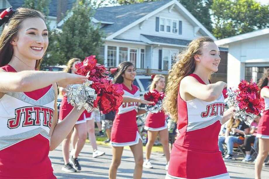 "Members of the Jacksonville High School J'ettes dance team walk in the 2017 JHS homecoming parade. The parade was a part of the homecoming celebrations and the district's 150th anniversary celebration. The theme was ""Rich history, bright future."" Photo: Samantha McDaniel-Ogletree 