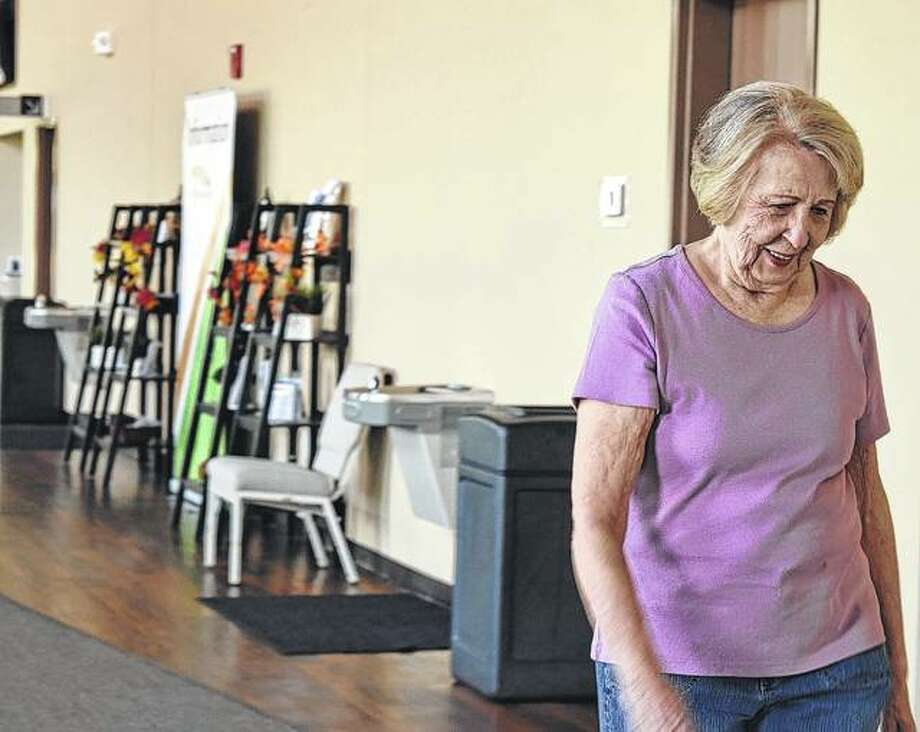 Lillie Havlin of Jacksonville walks during the Walk for Wellness program at First Christian Church.