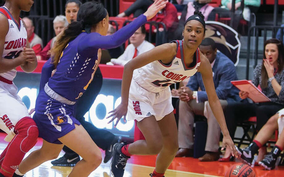 Amri Wilder scored a career-high 14 points for SIUE Wednesday, but the Cougars dropped an 85-62 Ohio Valley Conference decision to Austin Peay in Clarksville, Tennessee. Photo: SIUE Athletics