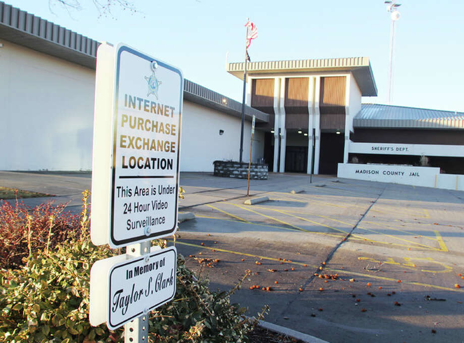 One of two internet purchase exchange locations at the Madison County Sheriff's Department in Edwardsville. Sheriff John Lakin touted the use of the locations at a Madison County Board Public Safety Committee meeting. The locations are under constant video survellance, giving people extra security when completing internet-arranged purchases.