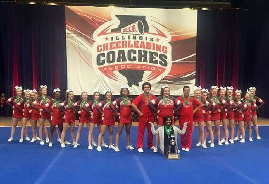 Alton's Co-ed Varsity Cheer Team at the 33rd annual Illinois Cheerleading Coaches Association (ICCA) state championship last weekend.