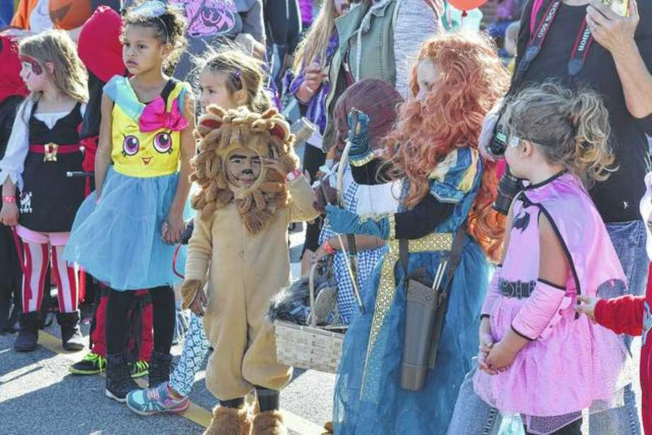 Children line up for the 4- to 6-year-old division of the 2016 costume contest during Jacksonville Main Street's annual Pumpkin Festival. Photo: Nick Draper | Journal-Courier