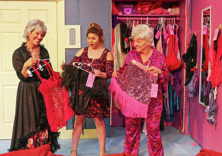 "Claudia Herndon, left, Mary Grace Brueggemann and Pat Kulish will appear in ""Nana's Naughty Knickers"" Jan. 27 through Feb. 5 at Alton Little Theater."
