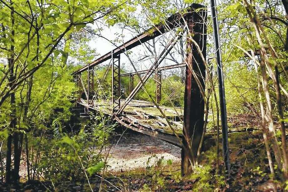 An old bridge in Scott County shows the effects of time.