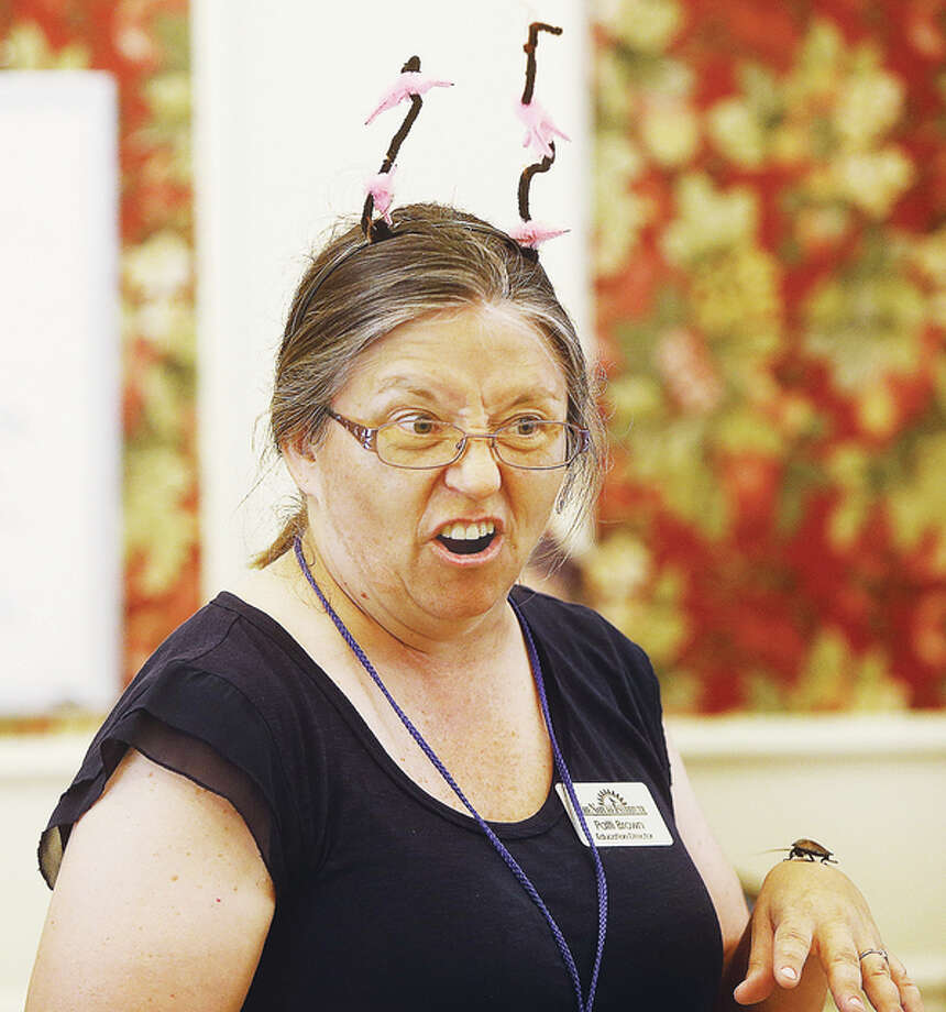 Patti Brown, education director at Nature Institute, during one of her bug talks.