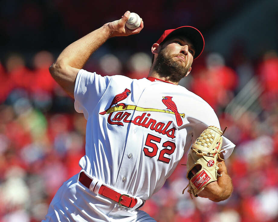 Cardinals starting pitcher Michael Wacha, above, and teammate Lance Lynn will need to show during spring training they have recovered from physical ailments that cost them part or all of last season. Photo: Billy Hurst File Photo | For The Telegraph