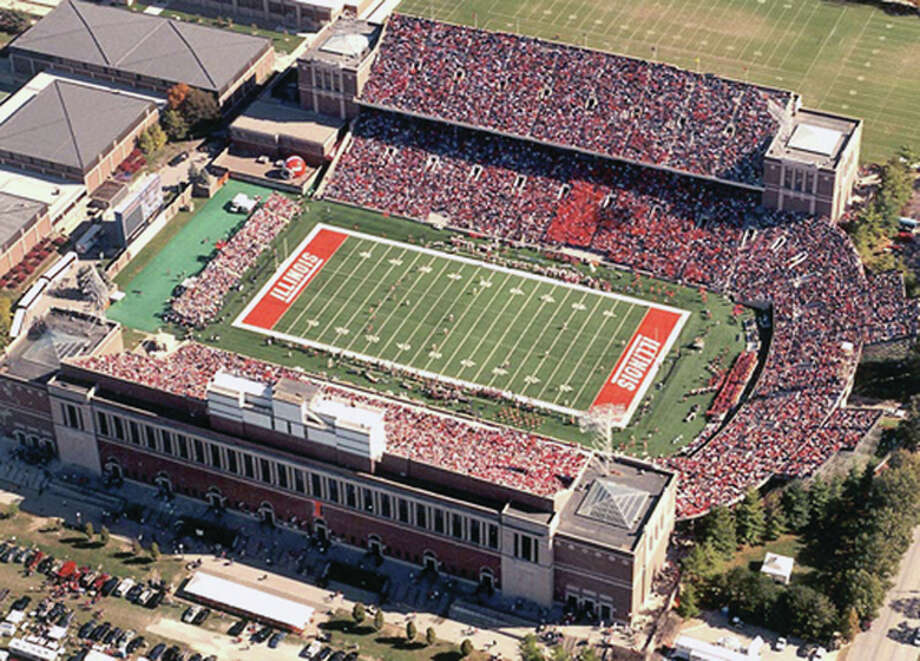 Memorial Stadium's horseshoe section will be demolished after next sweason. Architects from Kansas City's infrastructure solutions firm HNTB were to be on campus this week to begin formalizing the details for the south and east renovations. Photo: File Photo
