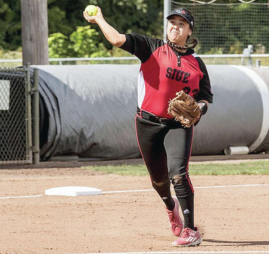 Kalei Kaneshiro had a home run and a double in the SIUE softball team's sweep of its first two games of the season Friday in the Mardis Gras Classic in Monroe, Louisiana. Photo: SIUE Athletics