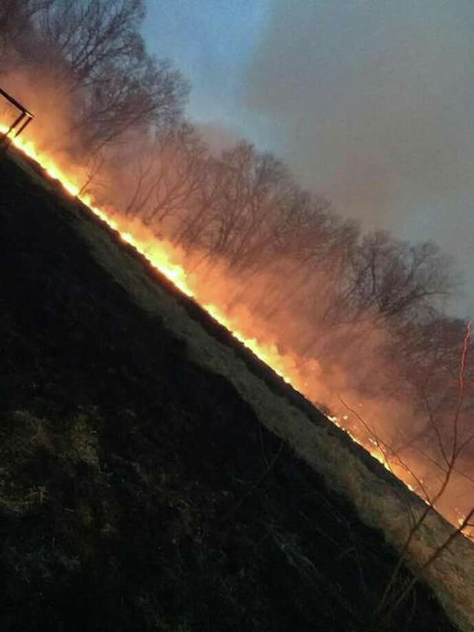 A large blaze scorched 1,000 acres in Calhoun County Sunday and Monday. The flames prooved stubborn, rekindling hours after responders contained the original conflagration.