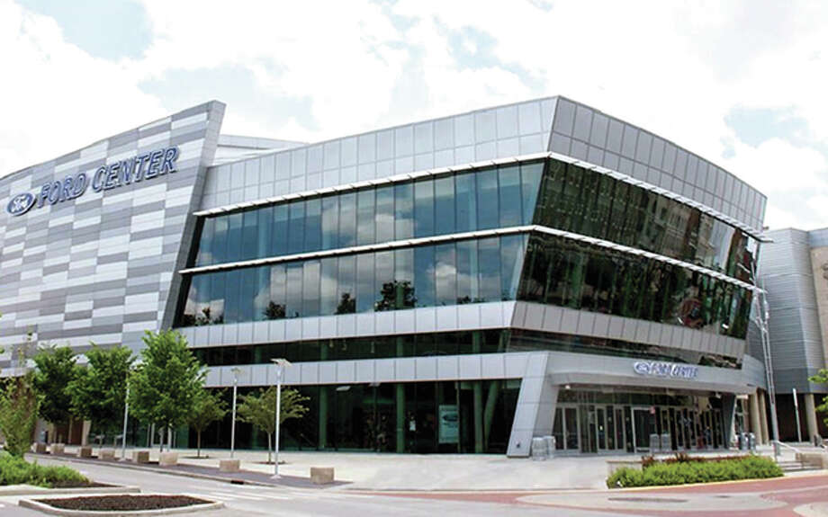 The Ford Center in Evansville, Indiana will be the site of the 2018 Ohio Valley Conference Men's Basketball Tournament.