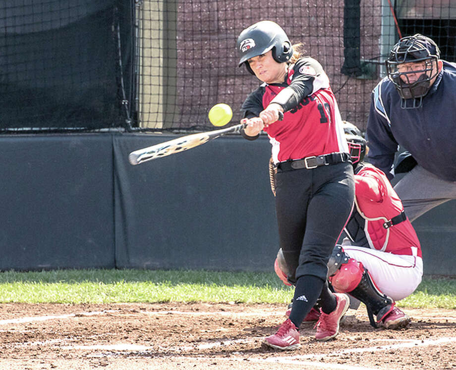 SIUE's Allison Smiley had a hit and an RBI in her team's 4-3 loss to No. 2 Auburn Thursday.