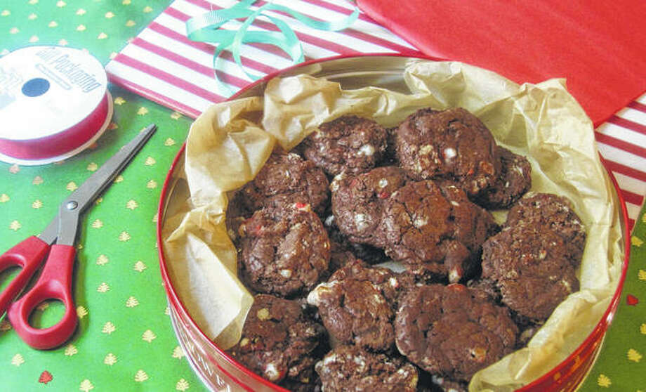 The main ingredient in chocolate peppermint cookies is 1½ pounds of chocolate, which guarantees an intensely chocolate-y flavor. The cookie's base is made of a combination of unsweetened and bittersweet chocolate. Photo: Sara Moulton   Associated Press