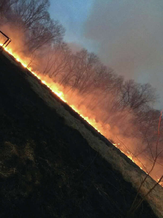Another 300 acres have burned in the Panther Creek wildfire, firefighters said Monday, which flared up for a fourth time Sunday. Photo: For The Telegraph