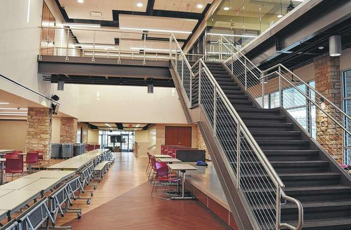 The commons area at Jacksonville Middle School was completed near the end of October. The space serves as a caferteria and additional space for activities.