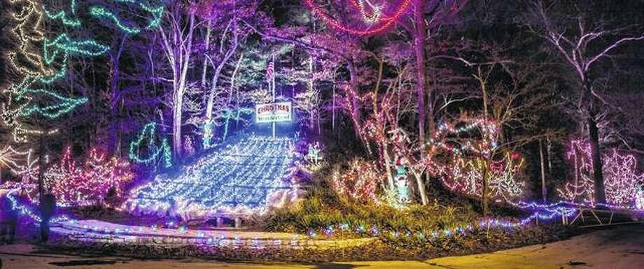 The Christmas Wonderland holiday light display at Alton's Rock Springs Park runs through Sunday. Photo: Enjoyillinois.com