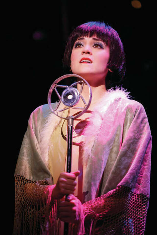 "Joan Marcus/For The Telegraph Andrea Goss as Sally Bowles in the 2016 national touring production of Roundabout Theatre Company's ""Cabaret."""