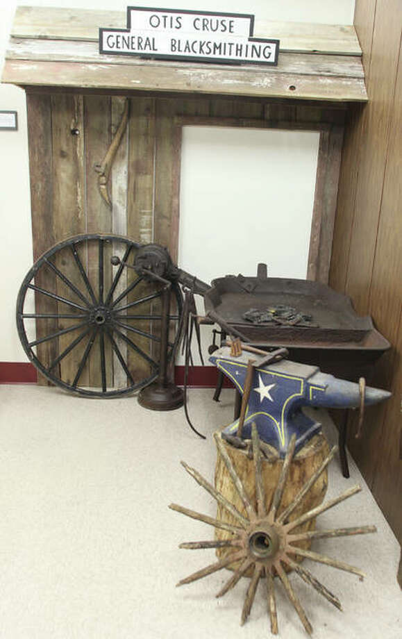 A static display in the soon-to-be-open East Alton Museum shows off an old village business. The museum will open Saturday with a ceremony at 2 p.m.