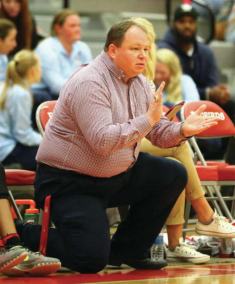 Bob Rickman has resigned as Alton Redbirds girls basketball coach after four seasons. Photo: Billy Hurst / Telegraph File Photo