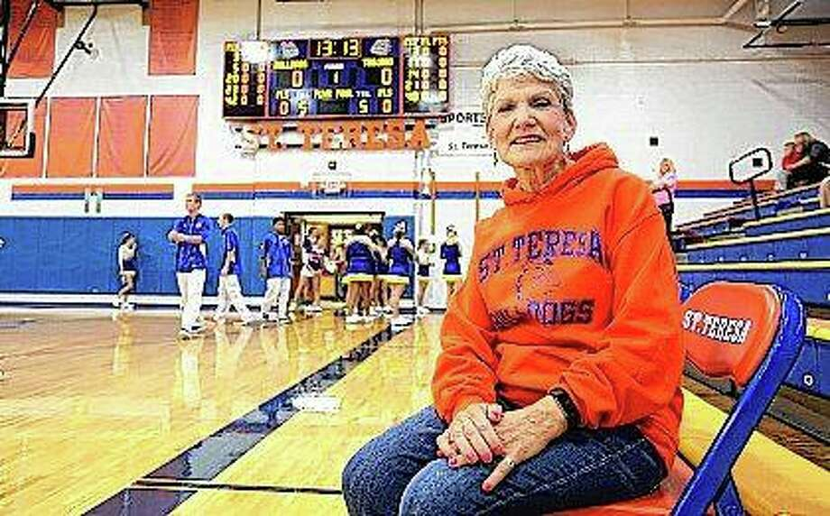 Around St. Teresa High School, Eleanor Alsbury was no stranger to supporting the activities of her grandson, Isaiah Bond, including his participation as a member of the boys basketball team. Photo: Herald & Review (AP)