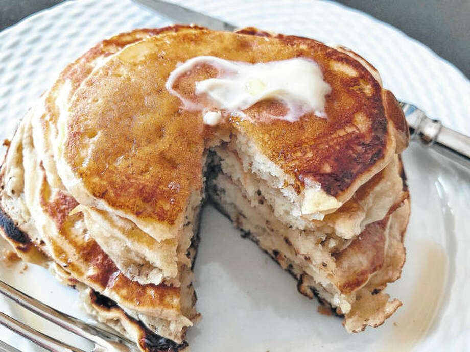 To make ripe banana pancakes, the bananas are mashed as if making banana bread and added to the batter right before the pancakes are prepared. The result is almost like banana bread pancakes. Photo: Elizabeth Karmel   Associated Press