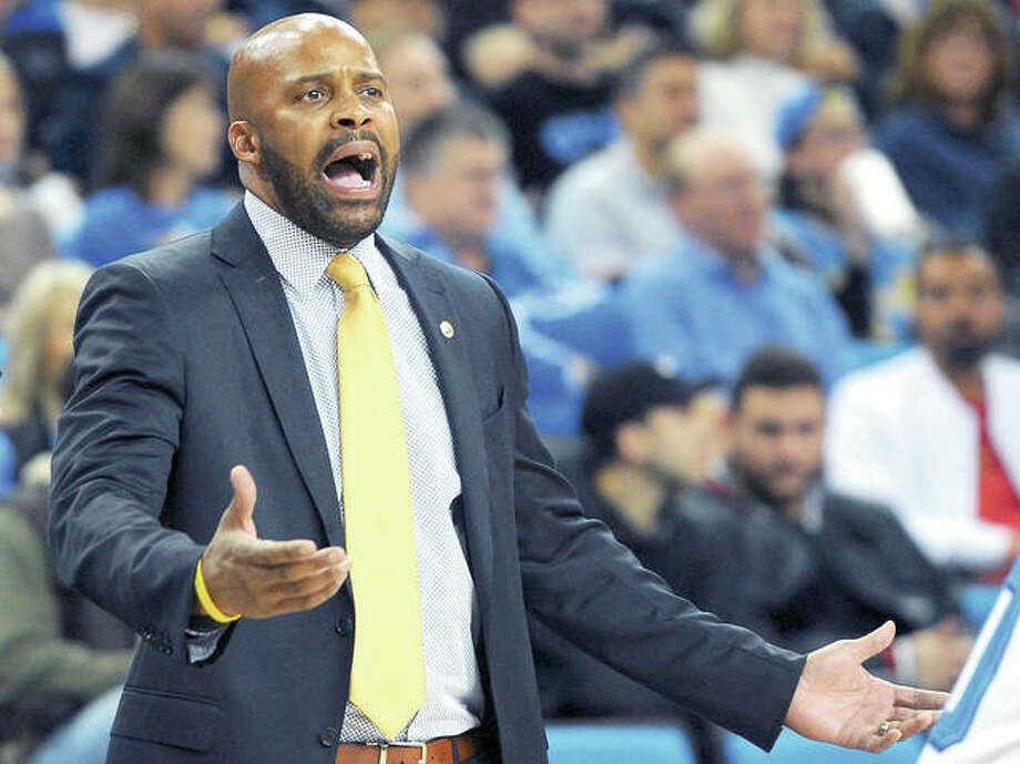 Former California head coach Cuonzo Martin yells duringa Janurary game against UCLA in Los Angeles. Martin, a native of East St. Louis, is the new Mizzou men's basketball coach. Photo: AP