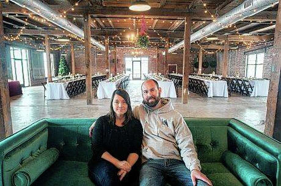 Brandon and Amy Knapp created the Cannery, an event venue at a former Libby's pumpkin cannery in Eureka. The space has become popular for banquets and large parties especially wedding receptions. Matt Dayhoff | Journal Star (AP)