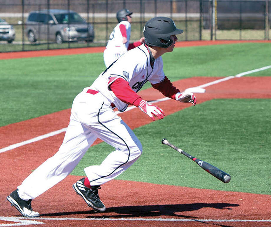 SIUE's Jordan Stading had a double in Sunday's 3-2 loss to Tennessee tech. Photo: SIUE Athletics