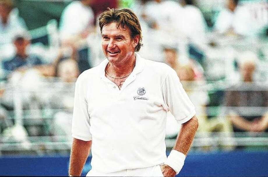 Jimmy Connors during a tennis game against Peter Flemming. Photo: AP