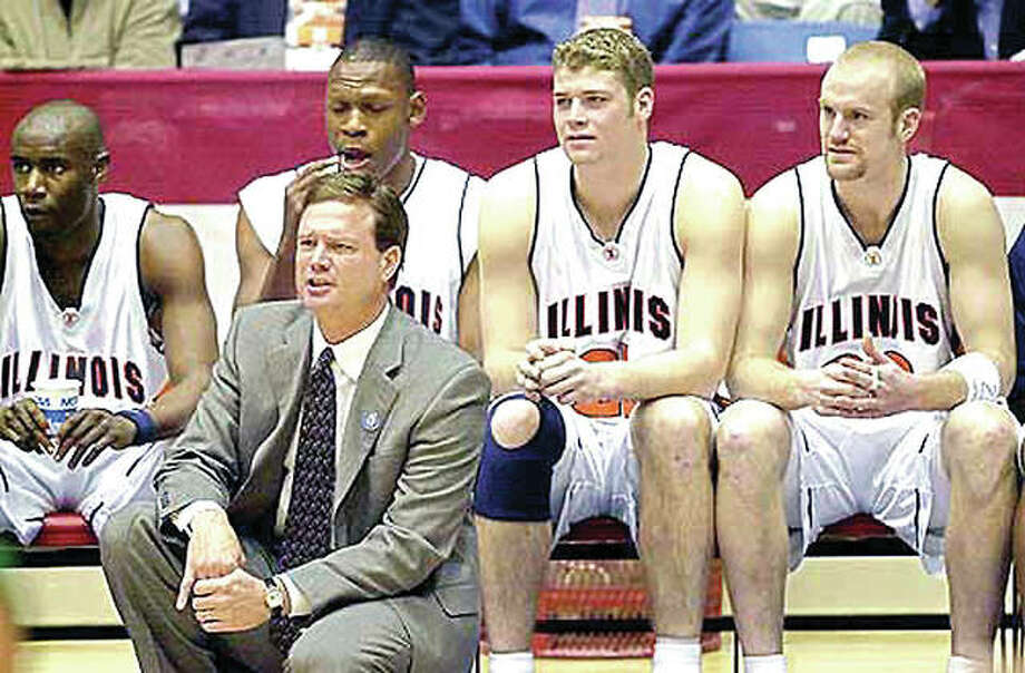 Kansas Coach Bill Self, shown during his days as the Illinois head coach, has developed a postseason pattern that includes frequent disappointment in March. Photo: AP File Photo