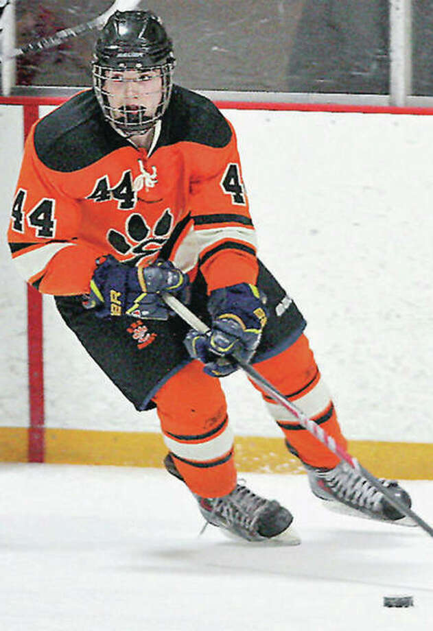 Edwardsville's Tyler Schaeffer scored four goals to lead his team to a 9-6 victory over Allen, Texas on Thursday in the opening day of the USA Hockey High school Nationals in suburban Cleveland, Ohio.