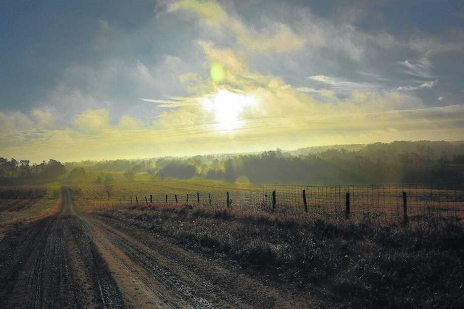 Jeff Ruzicka | Reader photo Fog blankets the hills and fields of Pike County as the sun starts to rise for the day.