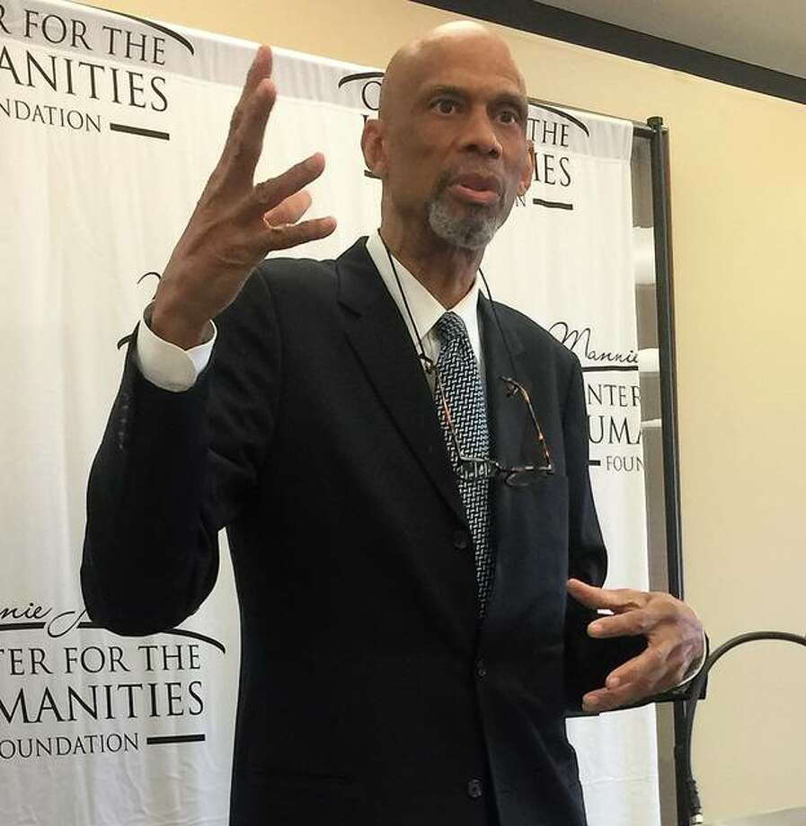 NBA legend turned author and activist Kareem Abdul-Jabbar was guest speaker for the Mannie Jackson Center for the Humanities second annual fundraising event. The event was held Thursday at Southern Illinois University Edwardsville. Photo: Brittany Johnson | The Telegraph