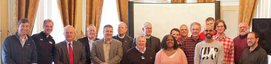 Submitted photo Clergy members were honored recently by the Kiwanis Club of Jacksonville during its Clergy Appreciation Luncheon. The group recognized: Adam Dichsen from Faith Lutheran; Tom Meyer from Church of Our Saviour; Pete Brechbuhl from Salem Lutheran; Kip Ashmore and Tom Langford from Trinity Episcopal; Dean Beals from Wesley Chapel Methodist; Katrina Jenkins from Illinois College; Dusty Cookson, Sam Rosa, J Cook and Stuart Smith from First Christian; Tom Herbert from Life Church; Rex Kibler and Jared Reno from Central Christian; Thom Nelson from First Presbyterian; Tom Phillips from Our Redeemer Lutheran; and Mike Fender from Grace United Methodist.