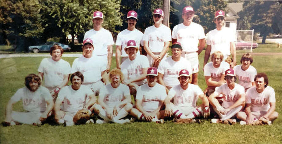 Members of the 1980 Kohler's softball team gather for a team photo. The team, which won more than 900 games in a 10-year period, is being inducted into the ASA Illinois Softball Hall of Fame Saturday night in Decatur. Photo: Submitted Photo