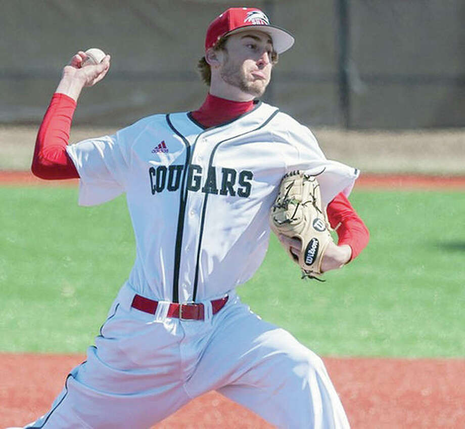 Brock Fulkerson pitched the Cougars' first complete game of the season Saturday in SIUE's 11-2 home win over Eastern Kentucky. Photo: SIUE Athletics