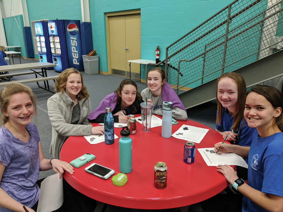 Middle school students take part in an activity at the lock-in conducted at the Meyer Center YMCA. Photo: For The Intelligencer