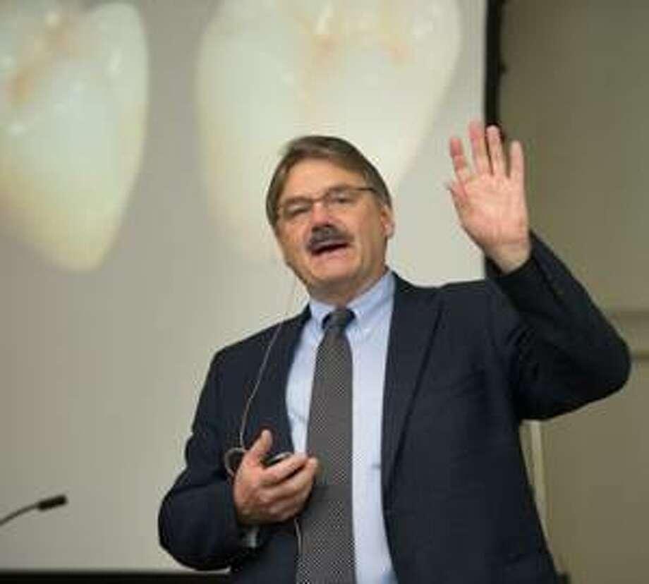 Southern Illinois University School of Dental Medicine Research Day featured speaker Dr. John A. Sorensen.