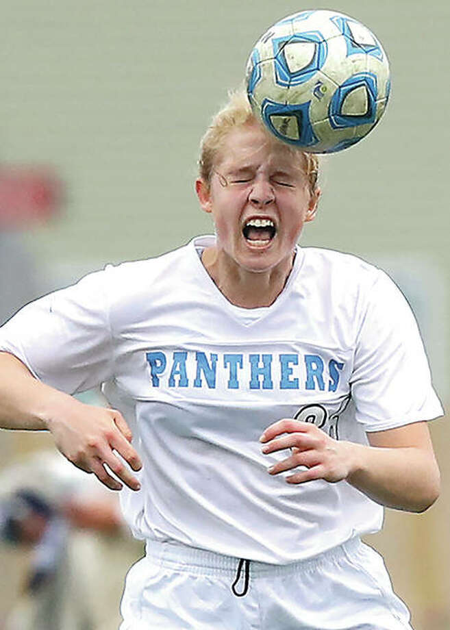 Jersey's Erica Bechtold scored a goal in her team's 5-2 home loss to CM Monday.