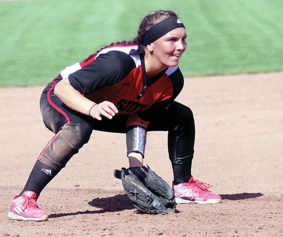 SIUE softball player Haley Adrian will receive the Outstanding Student Leader Award Monday in the Morris University Center Meridian Ballroom on the SIUE campus. Photo: SIUE Athletics