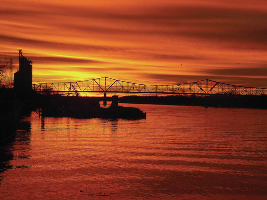 Joseph E. Trone | Reader photo Reader Joseph E. Trone captured this colorful sunset along the Illinois River while standing on the riverlook in Beardstown.