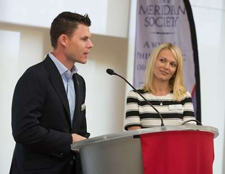 SIUE alumni Chad and Kathie Opel, founders of Edwardsville Neighbors in Need, provided the keynote presentation.
