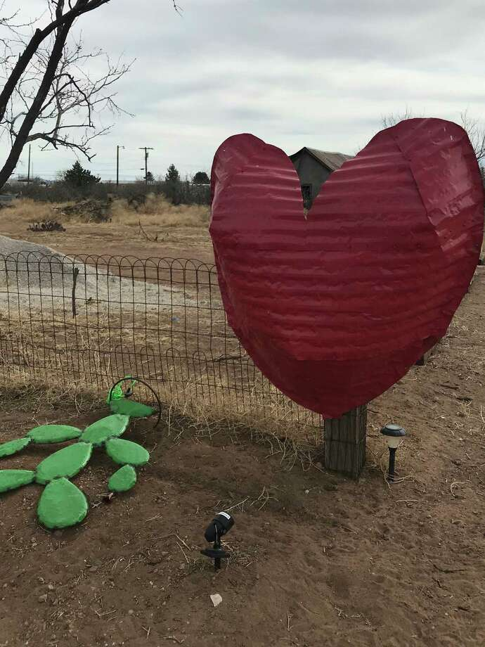 Yard art in Valentine rivals the famous Prada installation in Marfa, which was erected by two Berlin-based artists. / Houston Chronicle