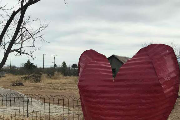 Yard art in Valentine rivals the famous Prada installation in Marfa, which was erected by two Berlin-based artists.