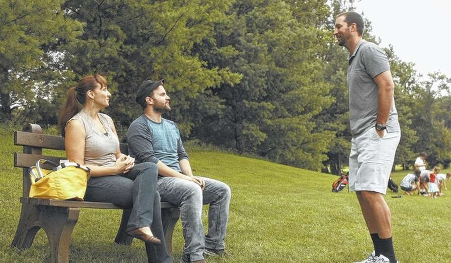 "Photo courtesy of Circa87 Actors Jackie Manker (from left), Cody Heuer and Adam Wainwright are shown in a scene from the movie ""Proximity."""