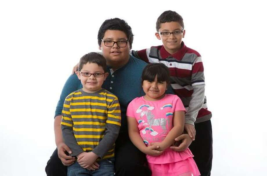 Siblings, from left, Jesus, Elias, Irma and Mateo.