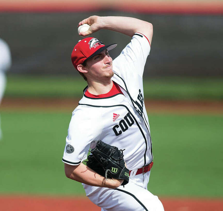 SIUE pitcher Michael Shereyk and the Cougars go on the road to Clarksville, Tennessee to play Austin Peay in an Ohio Valley Conference baseball series Friday, Saturday and Sunday. Photo: SIUE Athletics